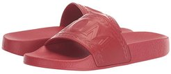 Logo Group Slide (Chinese Red) Women's Shoes