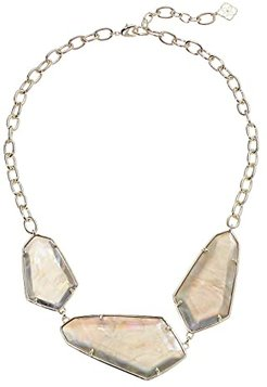 Violet Statement Necklace (Gold/Gray Illusion) Necklace