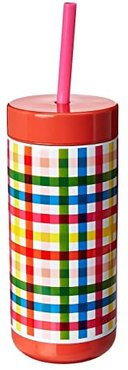 Stainless Steel Tumbler with Straw (Block Party) Outdoor Sports Equipment