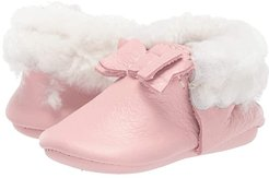 Blush Shearling Bow Mocc (Infant/Toddler) (Blush) Girl's Shoes