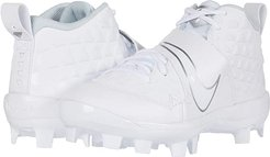 Force Trout 6 Pro MCS Baseball (Toddler/Little Kid/Big Kid) (White/White/Pure Platinum) Kids Shoes