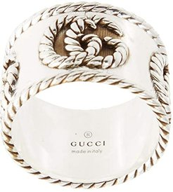 GG Marmont Detail Ring (Silver) Ring