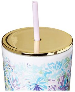 Tumbler with Straw (Shell of a Party) Dinnerware Cookware