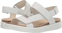 Corksphere Strap Sandal (White Cow Leather) Women's Sandals