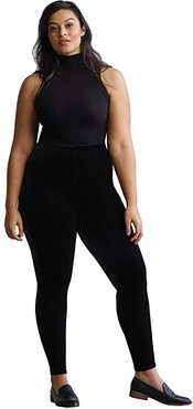 Plus Size Velvet Leggings with Perfect Control+ SLG05W (Black) Women's Casual Pants