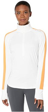 Dash 1/2 Zip (White/Nectar) Women's Long Sleeve Pullover