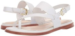 Anica Thong Sandal (Optic White Leather) Women's Dress Sandals