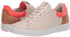 Soft 7 Street Sneaker (Vanilla/Coral Neon/Lion Cow Leather/Cow Leather/Cow Nubuck) Women's Shoes