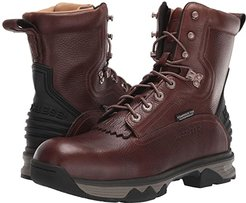 8 Lace-Up Work Boot - Composite Safety Toe Waterproof (Pecan Bison) Men's Boots