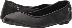 Anna (Black Leather) Women's Flat Shoes