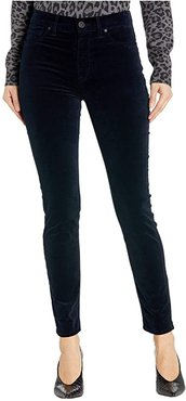 Barbara Velvet High-Waist Super Skinny Ankle in Midnight Navy (Midnight Navy) Women's Jeans