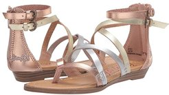 Bungalow (Little Kid/Big Kid) (Silver/Rose Gold/Gold Dyecut PU) Girl's Shoes