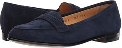 Perforated Trim Flat (Navy) Women's Flat Shoes