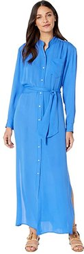 Shirtdress (Royal Blue) Women's Dress