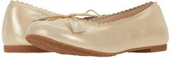 Scalloped Ballerina (Toddler/Little Kid/Big Kid) (Suede Gold 1) Girls Shoes