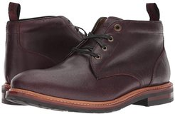Foundry Plain Toe Chukka Boot (Burgundy CF Stead) Men's Lace-up Boots