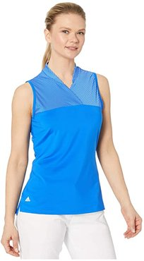 Crossover Polo Shirt (Glory Blue) Women's Clothing