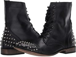 Trooper-S Boot (Black Leather) Men's Lace-up Boots