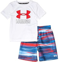 Grater Volley Set (Little Kids/Big Kids) (White) Boy's Swimwear Sets