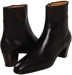 Leather Ankle Boot (Black) Women's Dress Zip Boots