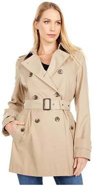Double Breasted Trench (Sand) Women's Coat