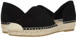 Leema Espadrille Flat (Black Suede) Women's Shoes