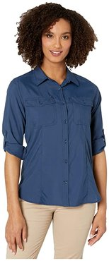 Expedition Dry Long Sleeve (Deep Blue) Women's Long Sleeve Button Up