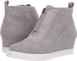 Anna Wedge Sneaker (Rock Perf Suede) Women's Wedge Shoes