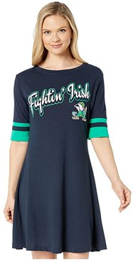 Notre Dame Fighting Irish Field Day Dress (Gear Navy/Kelly Green) Women's Clothing