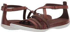 Summer Cross Strap Sandal (Mahogany/Cocoa Brown Cow Nubuck/Cow Leather) Women's Shoes