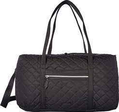 Performance Twill Lay Flat Travel Duffel (Black) Carry on Luggage