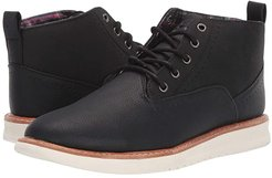 NU Casual Chukka (Black PU Leather) Men's Boots
