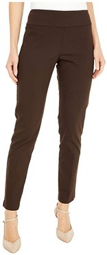 Control Stretch Pull-On Ankle Pants with Back Slit Detail (Chestnut) Women's Casual Pants