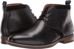 Uptown Plain Toe Chukka Boot (Black Leather/Suede) Men's Boots