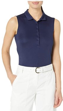 Rotation Sleeveless Polo (Peacoat) Women's Clothing