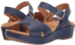 Myrna 2.0 (Navy Full Grain Leather) Women's Wedge Shoes