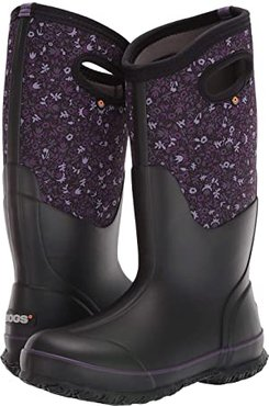 Classic Tall Freckle Flower (Black Multi) Women's Shoes