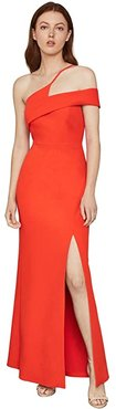 One Shoulder Gown (Vibrant Orange) Women's Dress