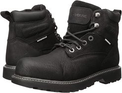 Floorhand Steel Toe Puncture Resistant 6 Boot (Black) Men's Work Lace-up Boots