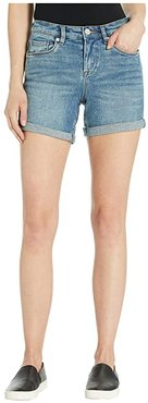High-Rise Roll Up Shorts in Star Bursts (Star Bursts) Women's Shorts