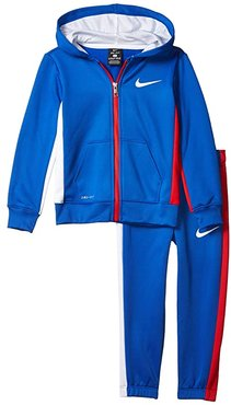 Therma-Fit Color Block Full Zip Jacket and Jogger Pants Two-Piece Set (Little Kids) (Game Royal) Boy's Active Sets