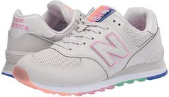 574 Outer Glow (Linen Fog/Candy Pink) Women's Shoes