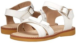 Lili Crossed Sandal w/Bow (Toddler/Little Kid) (White) Girls Shoes