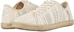 Lena (Natural Arrow Embroidered Mesh) Women's Lace up casual Shoes