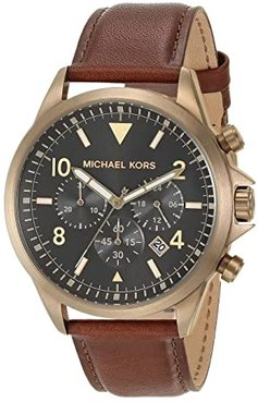 Gage Chronograph Leather Watch (Brown) Watches