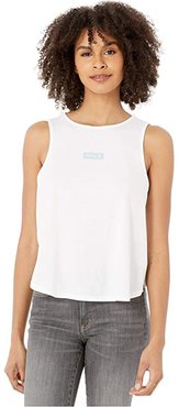 One and Only Box Flouncy Tank Top (White) Women's Clothing
