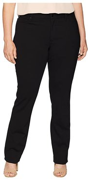 Plus Size Marilyn Straight in Black (Black) Women's Jeans