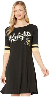 UCF Knights Field Day Dress (True Black/Vegas Gold) Women's Clothing