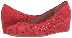 Lois (Red Nubuck) Women's Wedge Shoes