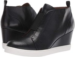 Felicia Wedge Sneaker (Black Perforated Nappa) Women's Shoes